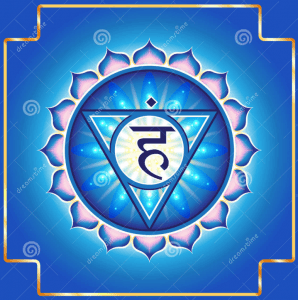 De blauwe chakra