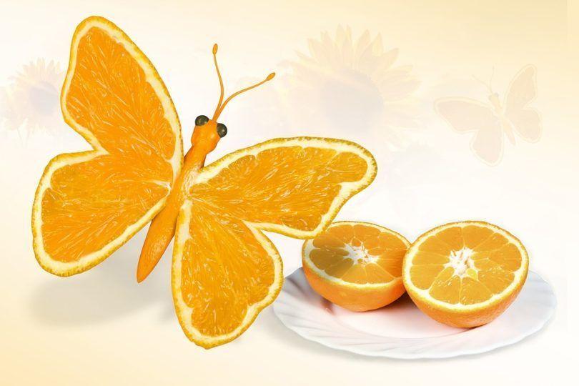 De oranje kleur betekent vreugde