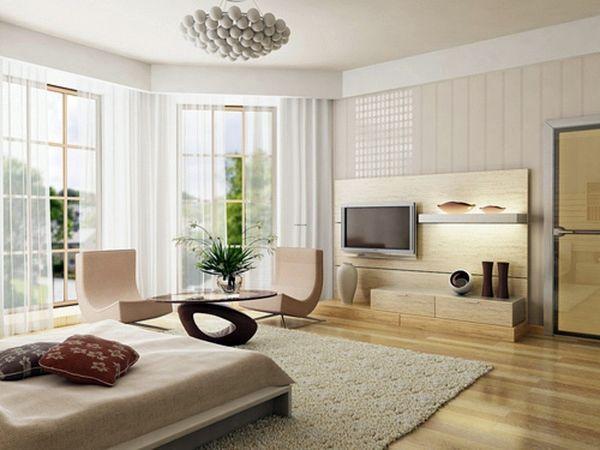 Un ejemplo para el diseño interior beige.