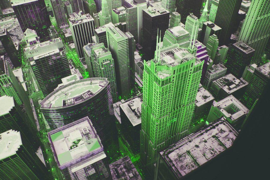 architectuur kleur groen