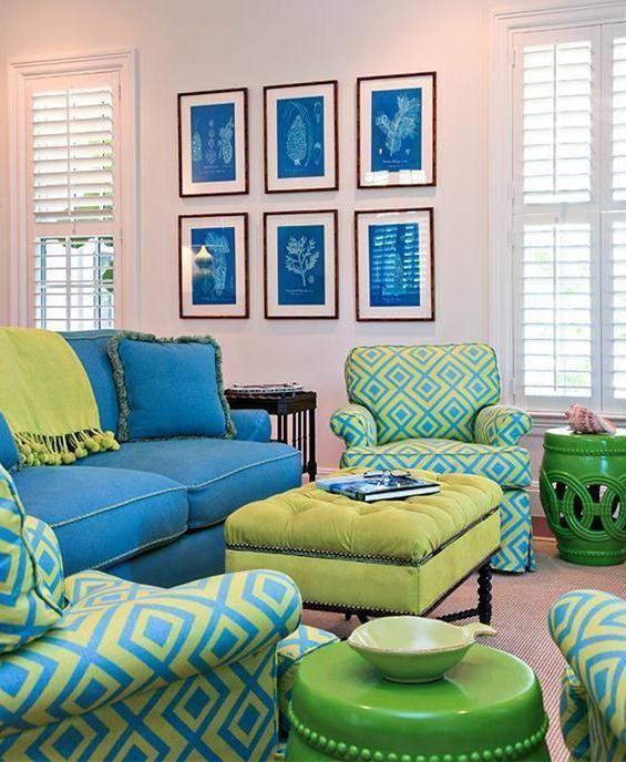 Ejemplo de uso de colores análogos en decoración.