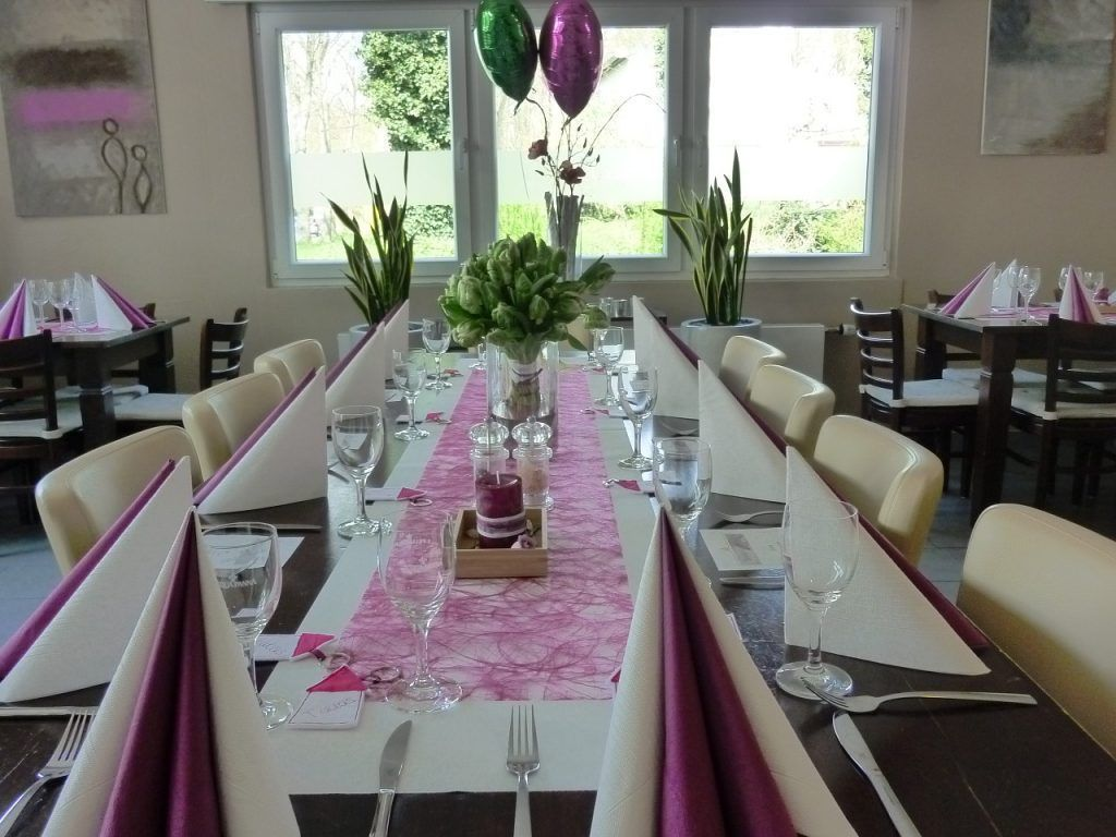 roze in de gastronomie